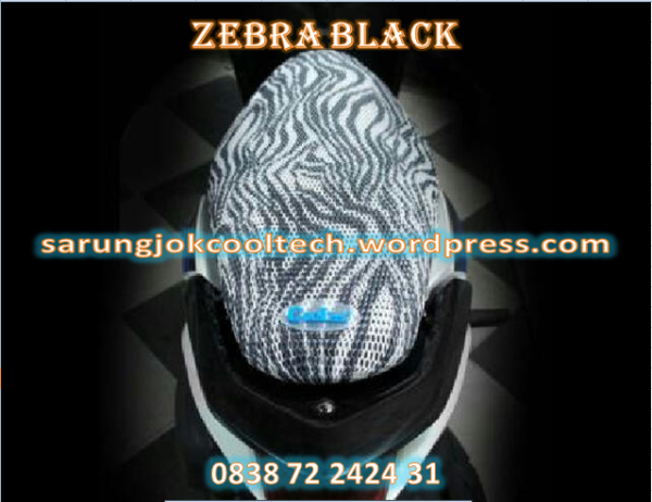 sarung jok anti panas cooltech motif zebra black